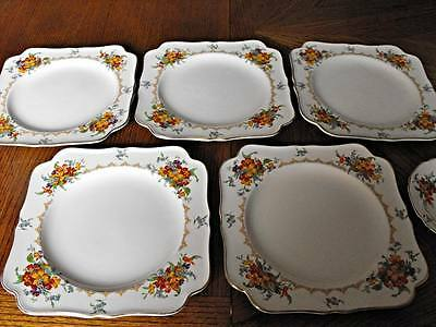 Antique Crown Ducal Ware Dinnerware (Lot Of 8 Pcs) England No. 72944