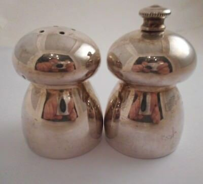 VTG STERLING SILVER Salt Pepper Shaker Mill Grinder Italy Set 126g mushroom