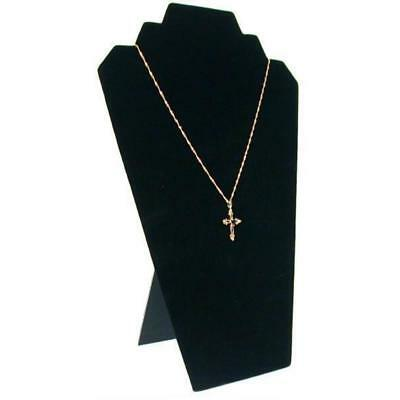 "Black Velvet Multiple Necklace Easel Jewelry Display 8 1/4"" x 12 1/2"""