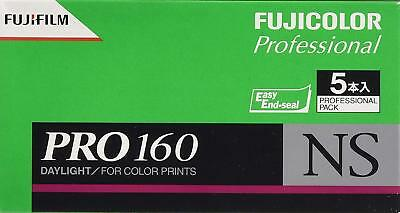 5 x Fujifilm Fuji PRO160 NS Color Negative 120 Film Japan w/ Tracking