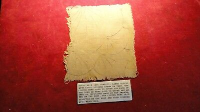 Rare Ancient Egyptian 12Th Dynasty -Linen Cloth With Lotus Designs -Burial Cover