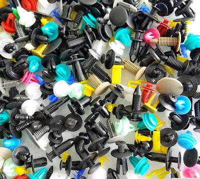 NEW 1000 Assorted Plastic Rivets Fasteners Retainers Bumper Trim Clips Free Ship