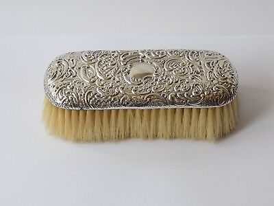 Antique Sterling Hallmarked Silver Backed Large Clothes Brush.birmingham 1896.