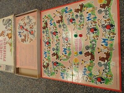 Forest Friends #4808 Milton Bradley Board Game 1962 Complete Collectible