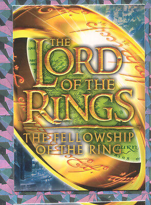 Topps lord of the rings Fellowship of the Ring  UK binder card no 5 of 9 Ring