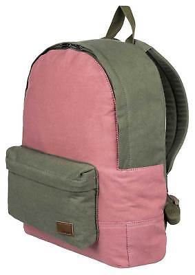 Roxy Sugar Baby Canvas Colorblock 16L Backpack - Burnt Olive - New