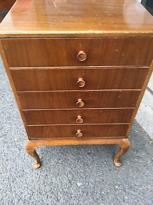 Music Sheet/collectors Chest Of Drawers