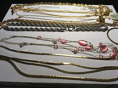 Vintage Lot of estate jewelry necklaces some with pendants