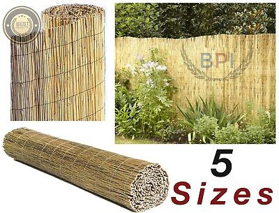 Natural Peeled Reed Screening Roll Garden Screen Fencing Panel Wooden 5 Sizes 4m