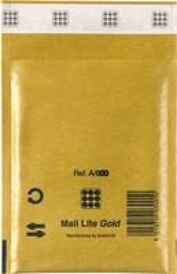 Pack of 10 MailLite Padded Bubble Envelopes GOLD A 11x 16cm