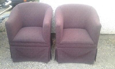 Quality Pair of Tub Chairs - good condition
