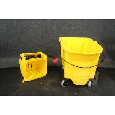 Rubbermaid 7580-88 WaveBrake 35-Quart Yellow Mop Bucket and Wringer