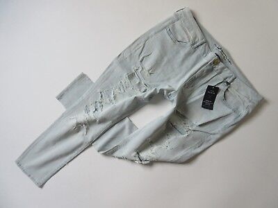 NWT American Eagle Outfitters Super Low Jegging in Slashed Sky Stretch Jeans 20