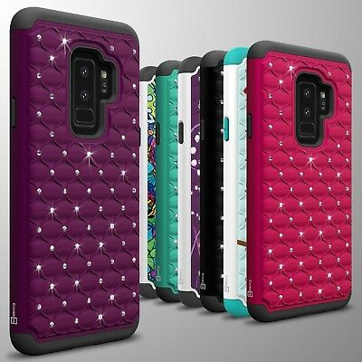 For Samsung Galaxy S9 Plus Case Diamond Bling Hybrid Tough Hard Phone Cover