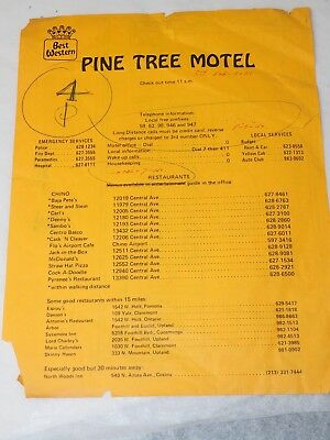 Pine Tree Motel Chino California Map Guide Check In Information