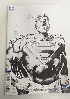 Superman #1 1:100 Ivan Reis Black & White B&W Incentive Variant Cover FN 6.0