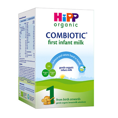 4 HiPP Combiotic UK Stage 1 First Infant Organic Milk, from birth on, 800gr.