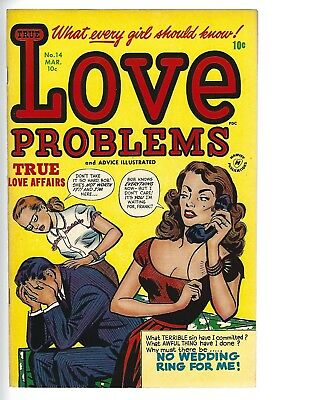 True Love Problems #14 Nm To Nm- 9.4 1952 Low Price High Grade