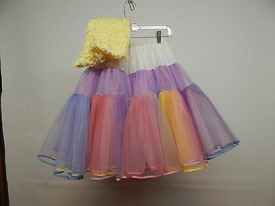 60 Yd Multi-Colored Nylon Net Square Dance Petticoat With Matching Pettipants