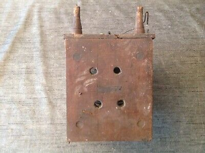 Antique Clock Movement Weight Driven 23x11x18cm Restoration Repair Spare Parts