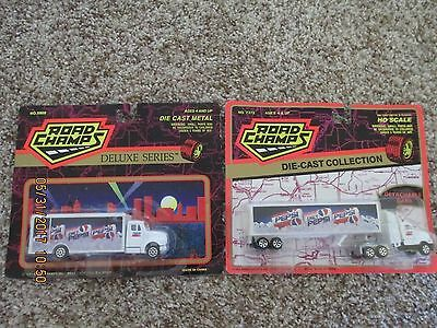 Vintage Pepsi Die Cast Road Champs Truck & Semi New in Package Lot of 2