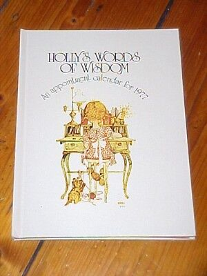 Vintage Holly Hobbie Appointment Calendar For 1977 Holly's Words Of Wisdom Book