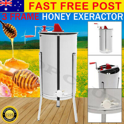 Honey Extractor 3 Three Frame Manual Crank Honey Spinner Tangential Beekeeping