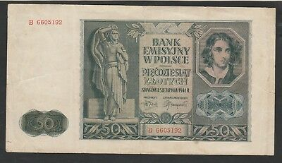 50 Zlotych From Poland 1940