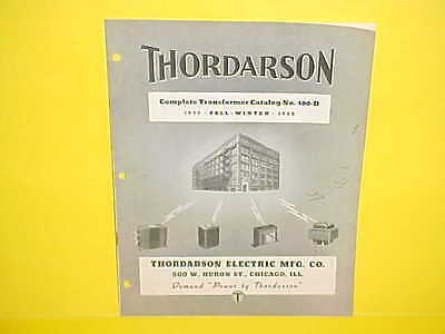 1939 1940 Thordarson Electric Transformer Parts Catalog Book Brochure Manual
