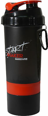 StartLine 600ml Gym Shaker Bottle - Black/Red