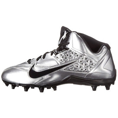 New Mens Nike SpeedLax 4 Lacrosse Cleat Silver / Black Size 13 M