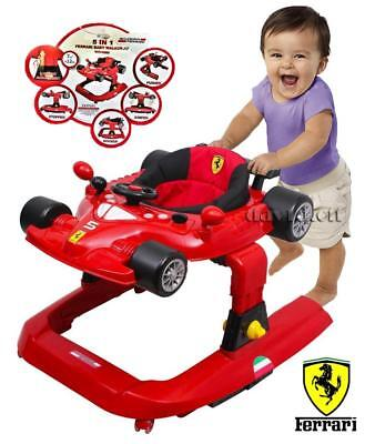 Br New 5in1 Sturdy Scuderia Ferrari Car Baby Walker with Activity Play Centre