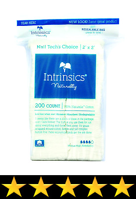 "Intrinsics Nail Tech's Choice - 2""x2"", Cotton Filled Gauze, 200 Count"