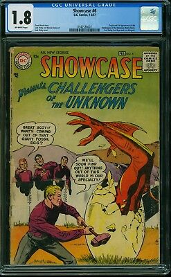 Showcase #6 CGC 1.8. Origin & 1st App Challengers of the Unknown. 1957. Kirby.