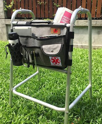 Walker Bag with Cup Holder for Walker by P&F | Deluxe Walker Accessories ... New