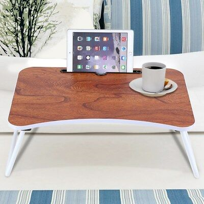 "24"" Portable Laptop Desk Lap Table Stand Sofa Bed Tray Computer Notebook Desk US"