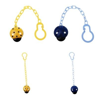 2Pack Baby Pacifier Chain Infant Boy Girl Dummy Soother Nipple Clip Holder