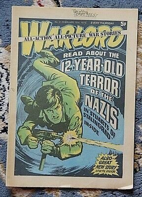 'WARLORD' No. 21 - 15/2/1975 - EVERY THURSDAY 5p - D.C.THOMSON COMIC