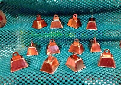 Copper Colored Bells Lot of 12 for Dog Cat Crafts Sheep Goats Grazing Animals