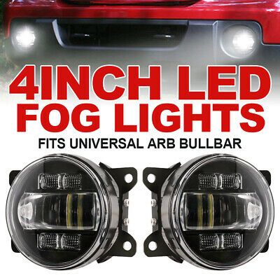 2x 4inch 30W LED Fog Lights w/ DRL Turn Signal Driving Lamp 4x4WD