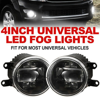 2x 30W Bullbar LED Fog Lights w/ DRL Turn Signal Driving Lamp