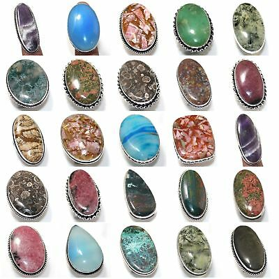 Amethyst Lace Moss Agate Chrysoprase Chrysocolla Ring Jewellery