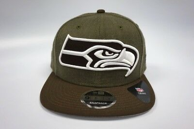8e2bf7a6375 SEATTLE SEAHAWKS NEW Era 9Fifty Original Fit Snapback Hat XL Logo ...