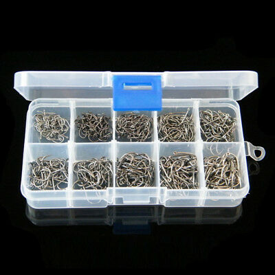 500Pcs/set Assorted Fishing Sharpened Hooks Lure Tackle Perforated 3#~12# LOT AU
