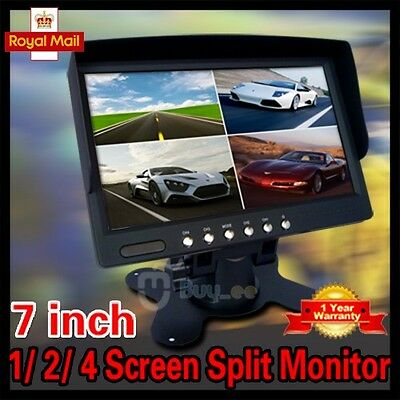 7 inch Car Rear View  Video 1/ 2/ 4 Screen Split Monitor FOR CAR BUS Rear Camera