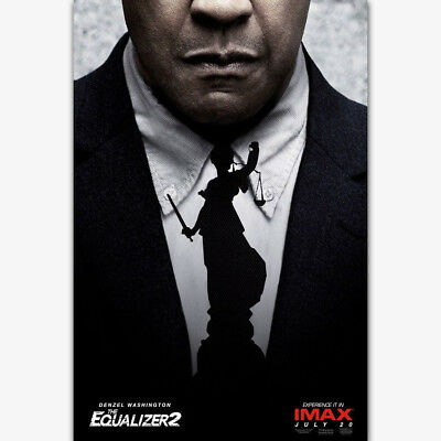 The Equalizer 2 2018 Movie Denzel Washington Film Poster Art Decor Z-70