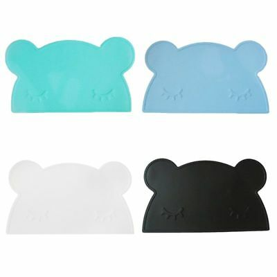 Insulation silicone placemat for kids, bear design, color choice - 46x27 cm R9I4