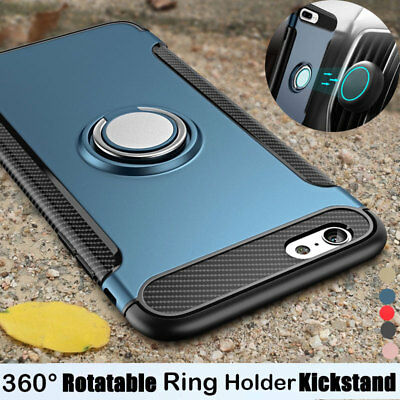 Fr iPhone 6S 6 Plus 7 8 Plus X Shockproof Protective Ring Holder Back Case Cover