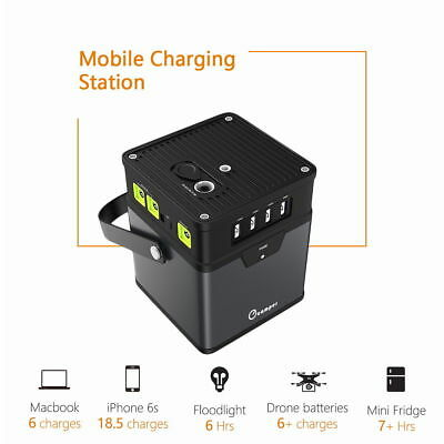 Portable 185Wh/50000mAh Energy Storage Generator Power Source Battery AC Outlet