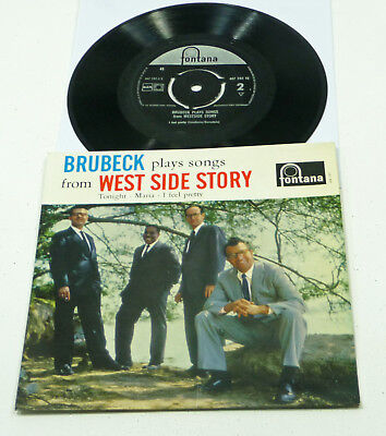 "Dave Brubeck Quartet ‎plays Songs from West Side Story - NL 1961 EP 7"" Fontana"